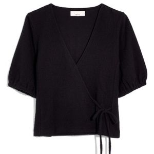 Madewell Texture & Thread Puff-Sleeve Wrap Top